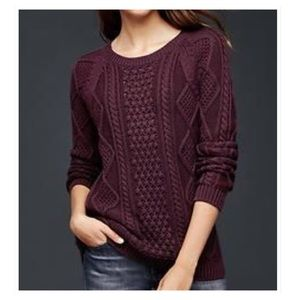 GAP Cable Aran Cable Knit Sweater